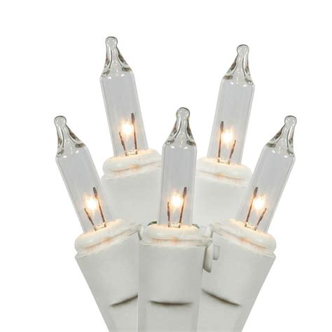 Vickerman 100 Ct Clear Mini Lights White Wire 5 5 In Philips 100ct Clear White Wire