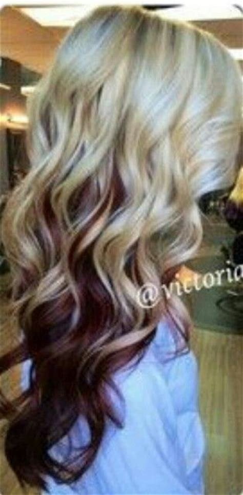 lowlighting the hair under the top layer my hair protein and blonde underneath on pinterest