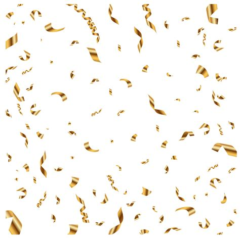 silver confetti vector eps10 overlay transparent stock gold confetti transparent clip art image gallery