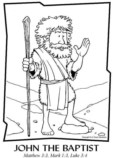 free bible coloring pages of john the baptist john the baptist coloring page