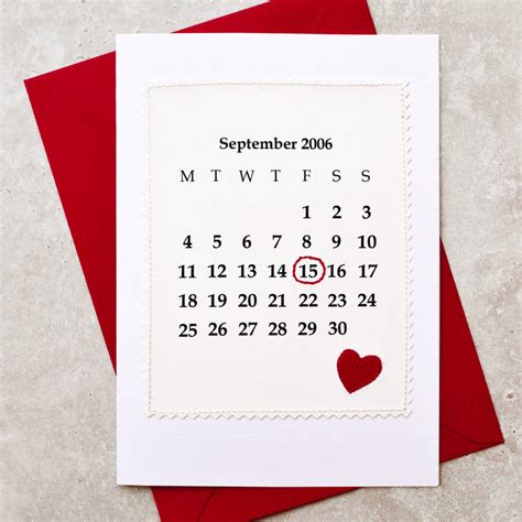 make your own calendar personalized dates calendar personalised date anniversary card by