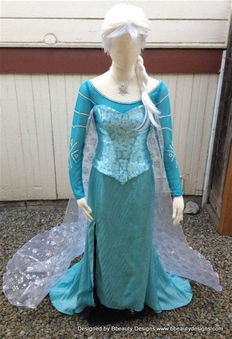 Elsa Costume Handmade - elsa frozen snow park version a costume custom