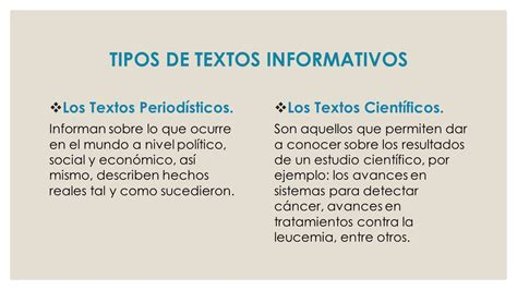 ejemplo de texto informativo el texto informativo ppt descargar