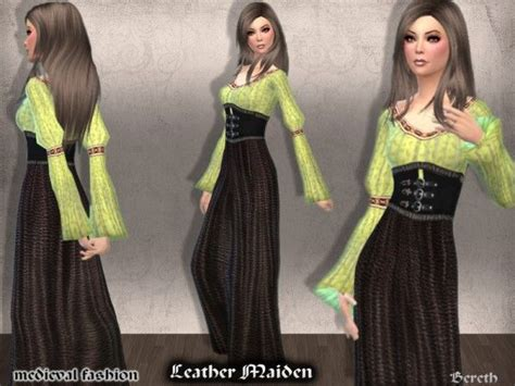 medieval sims 4 the sims resource medieval dress leather maiden by bereth