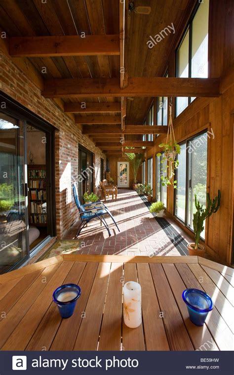how to designer envelopes at home interior view of the atrium solarium in a passive solar