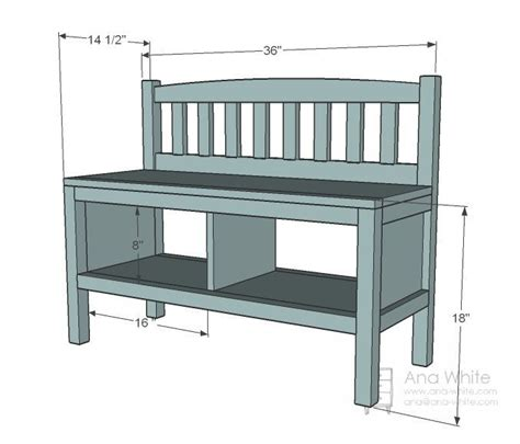mudroom bench depth ana white build a cottage bench with storage cubbies