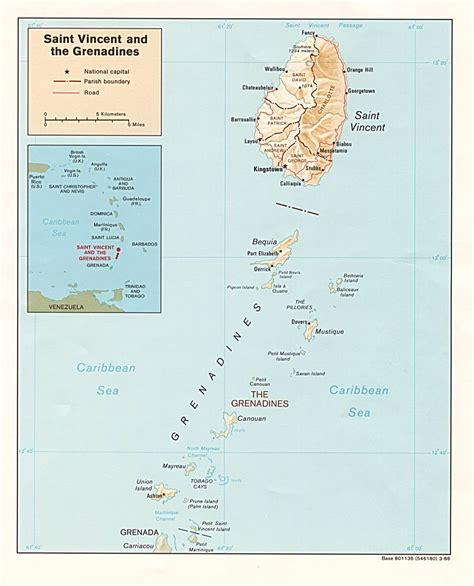 st vincent grenadines map nationmaster maps of vincent and the grenadines 2