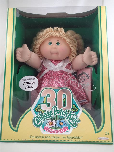 cabbage patch dolls names nib cabbage patch kids vintage doll limited edition 30th