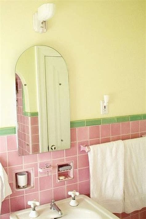 red and yellow bathroom 37 1950s pink bathroom tile ideas and pictures