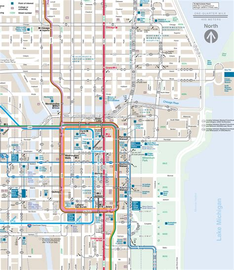 map of downtown chicago map chicago loop afputra