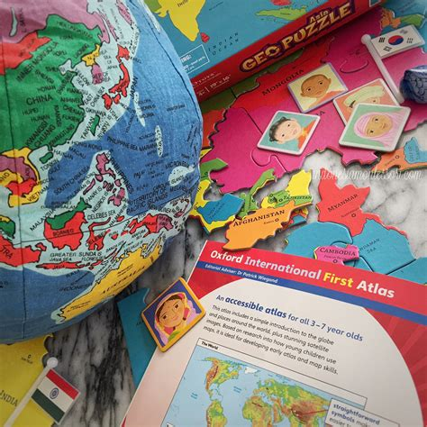 Atlas Global Besar let s explore asia with geopuzzle oxford atlas