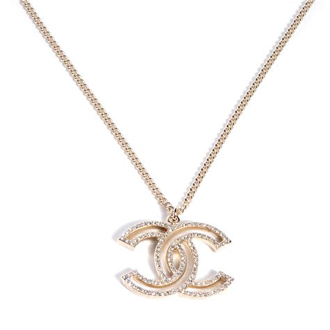 chanel cc necklace gold 74234