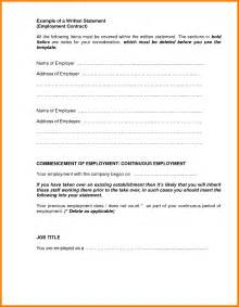 Written Statement Template by 6 Written Statement Format Hr Cover Letter