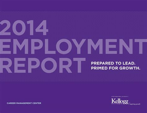 Kellogg Mba Employment Outcomes by 2014 Employment Report Kellogg School Of Management By