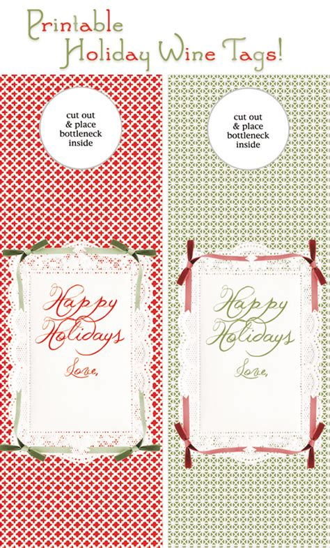 printable gift tags on pinterest free printable gift tag for bottle diy christmas holiday