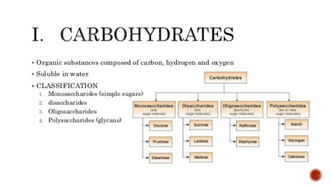 3 carbohydrates groups carbohydrate and lipid biochemistry