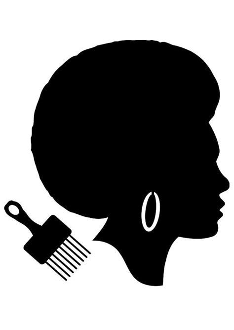 Dibujo para colorear peinado de mujer africana - Img 23040