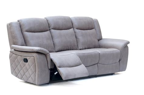 Carly 628 Motion Sofa In Grey Leather Air W Optional Items Leather Motion Sofa