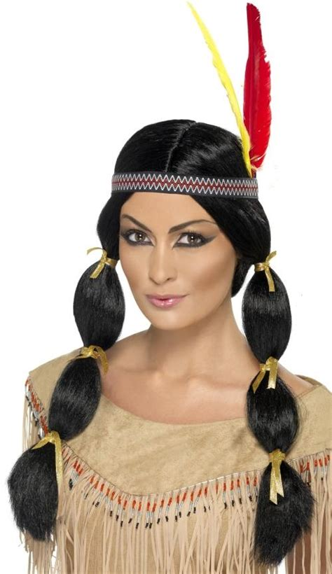 american indian hairstyles native american red indian squaw pocahontas wig fancy