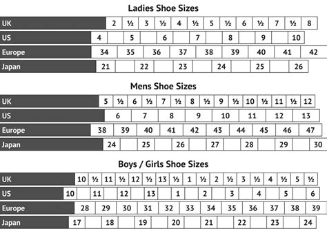 shoe size chart mm us uk shoe size table www napma net