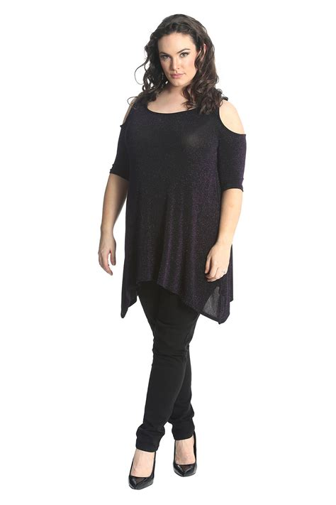 Cold Shoulder Tunic new womens top plus size tunic cold shoulder
