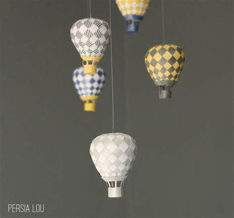 Make A Air Balloon Out Of Paper - air balloon mobile lou