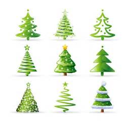 christmas tree collection vector free vector eps10