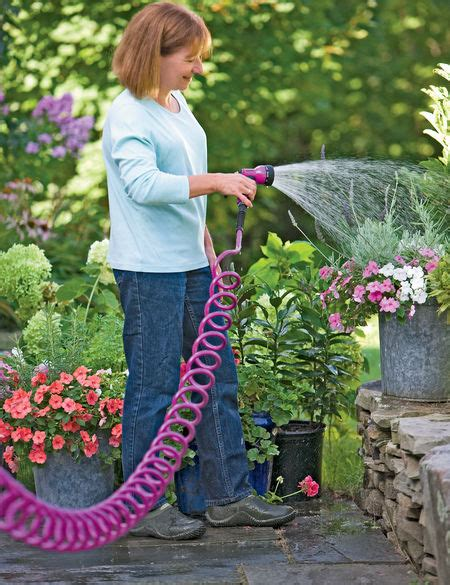 coiled garden hose  ft gardeners supply