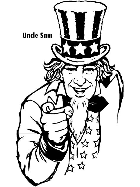 coloring page uncle sam uncle sam coloring page patriotic activities pinterest