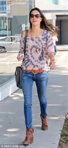 alessandra ambrosio makes a fashion statement in tie dye