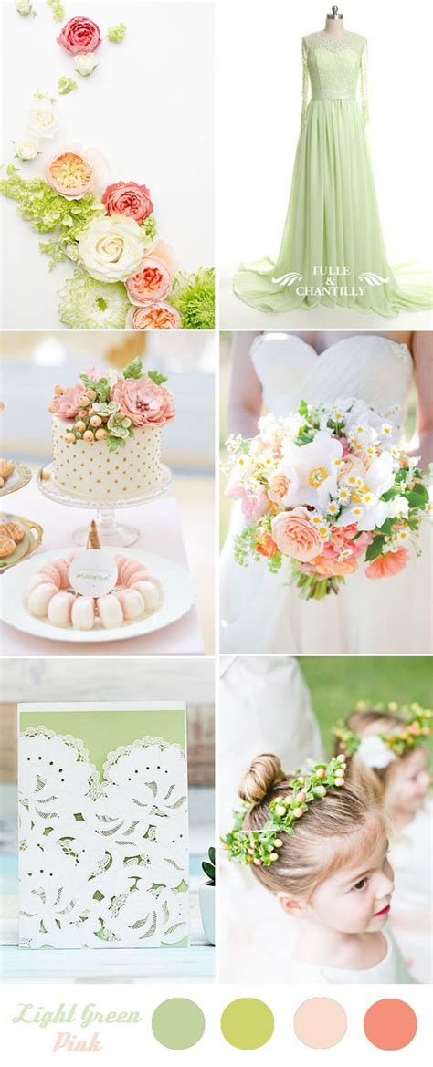 five fantastic spring and summer wedding color palette