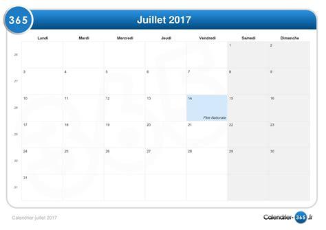 Calendrier Juillet Calendrier Juillet 2017