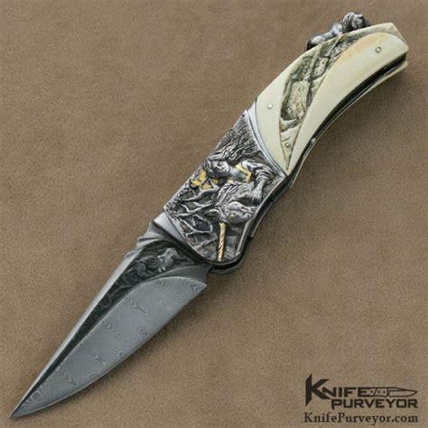 custom engraved knives arpad bojtos carved engraved linerlock knifepurveyor