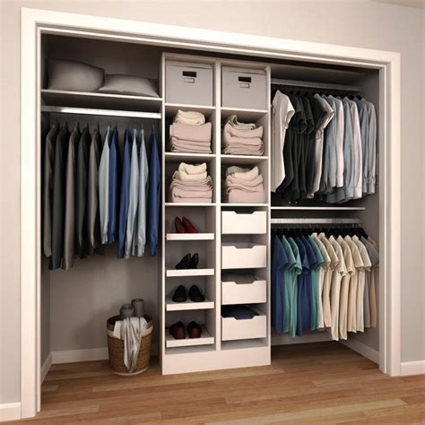 closet storage organization modifi 84 in h x 60 in to 120 in w x 15 in d white