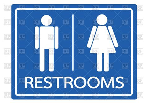 male bathroom symbol restroom symbol male and female vector clipart image 136187 rfclipart