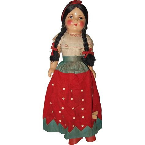 composition doll composition and cloth mexican souvenir doll from