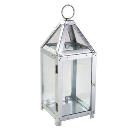 12 8 in galvanized metal votive candle lantern 14006s