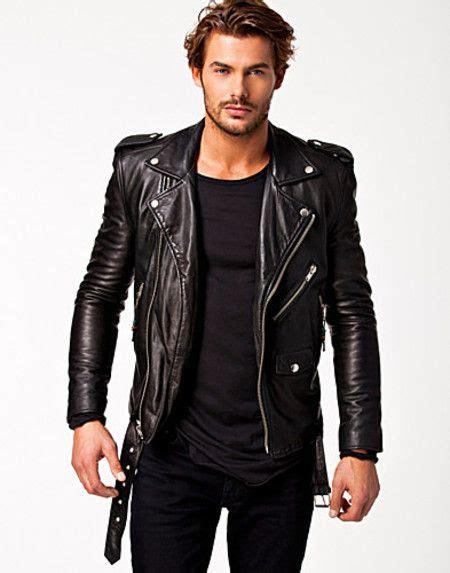 Jaket Kulit Sintetis Ziper Style Zip 026 leather jacket blk dnm mode leather jackets leather and jackets
