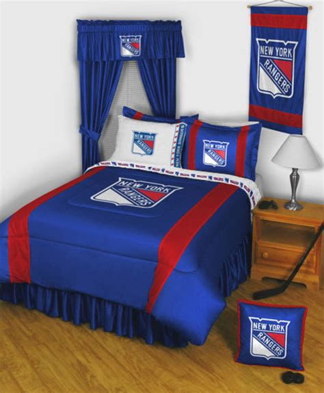new york rangers bedroom nhl new york rangers bedding and room decorations modern