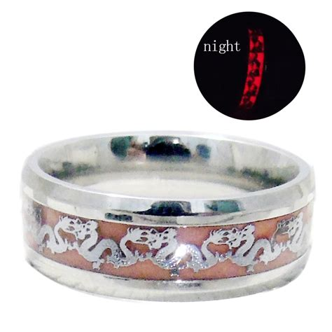 Exquisite New Glow In The Silver Color Ring Vintage T2909 new original luminous ring glow in the gold