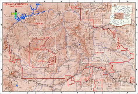 navajo nation map arizona lapahie 6 5 map of the navajo nation size