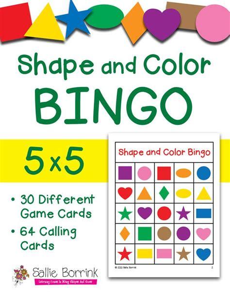 printable bingo cards with shapes shapes and colors bingo 5x5 pinterest bingo