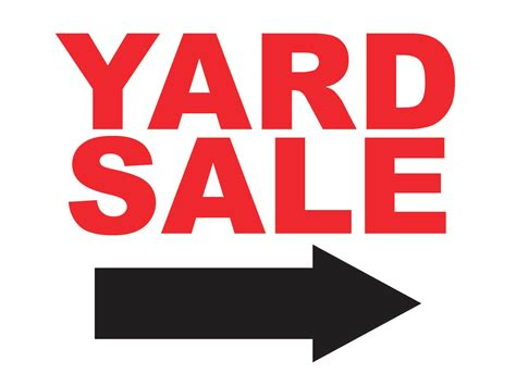 Backyard Sale by Yard Sale Sign With Arrow