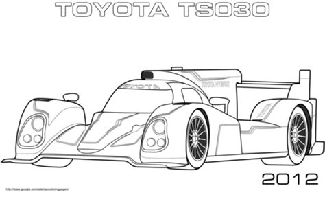 coloring pages toyota cars 2012 toyota ts030 coloring page free printable coloring