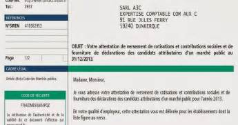 Exemple De Lettre Urssaf Modele Attestation Vigilance Document