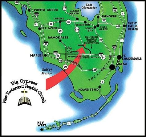 florida indian reservations map location big cypress new testament baptist church