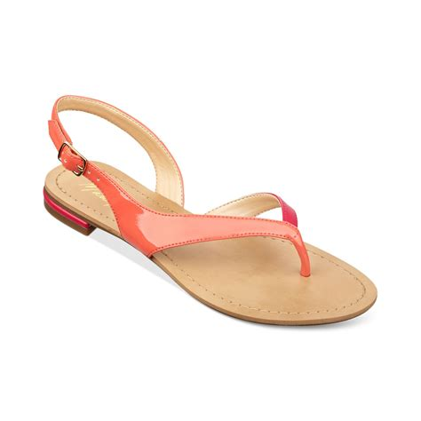 coral sandals marc fisher flats flat sandals in coral pink lyst