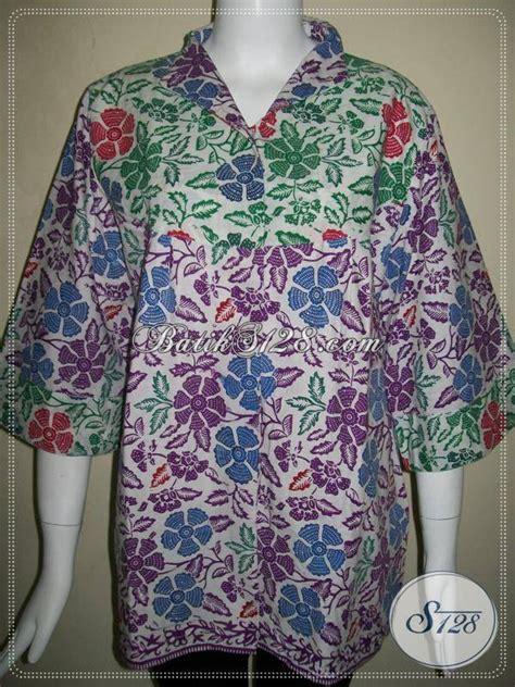 Baju Batik Muslim Terbaru Bsg599 Ungu baju batik wanita warna ungu images