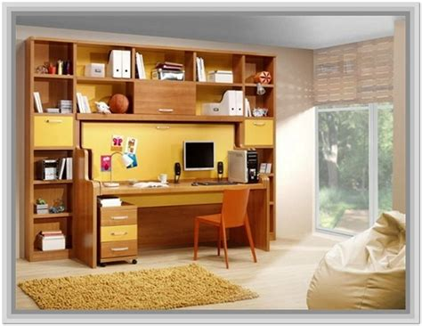 desk and bookcase unit combo home design ideas