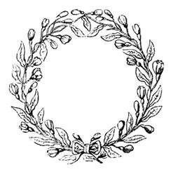 vintage clip art lovely delicate wreath frames graphics fairy